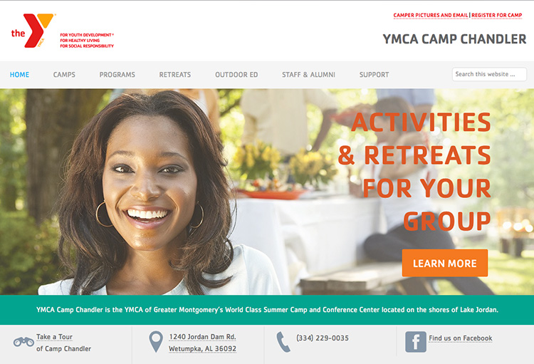 YMCA of Greater Montgomery's Camp Chandler Homepage