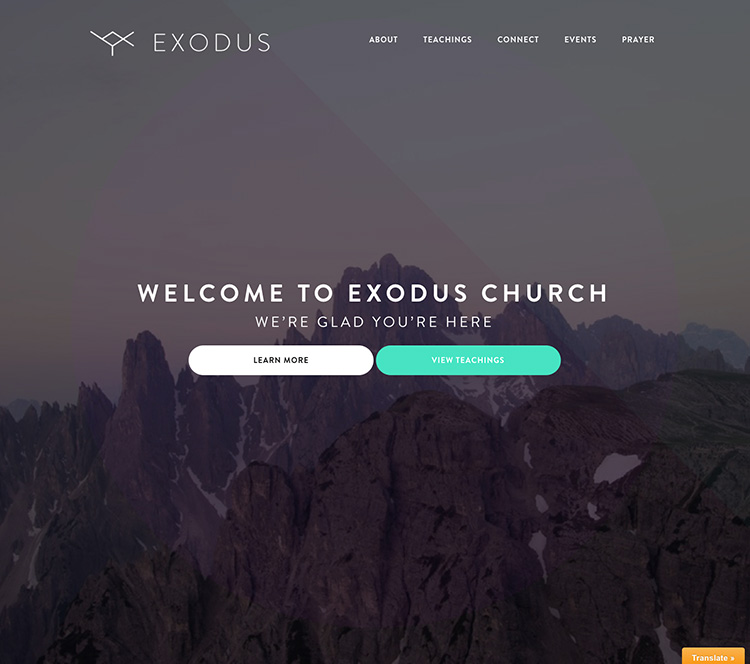 Exodus Theme Homepage
