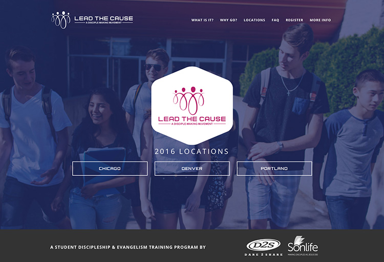 Dare 2 Share's Lead the Cause (LTC) Homepage