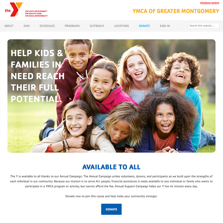 YMCA of Greater Montgomery Homepage